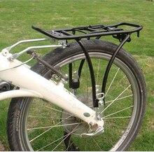 West Biking Bicycle Rear Rack Alloy Adjustable Rear Cargo Bike Touring Bag Panniers Carrier Fender Bike Cycling Rack Black