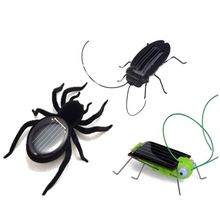 ABWE Best Sale Solar Power Educational Energy Cockroach Spider Grasshopper Toys Gadget Kid Gift(China)
