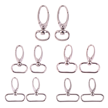 4pcs Retro Style Antique Silver Finish Luggage Bag Buckle Clasps Hooks For Jewelry Making Finding DIY Necklace(China)