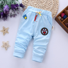 DIIMUU 1PC  Summer Baby Boys Girls Fashion Trousers Kids Toddler Children Clothing Cotton Casual Solid Pants Child Middle Pant