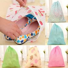 Non-Woven Travel Shoe Storage Bag Cloth Suit Organizer Bra Case Garment Galocha Packing Covers Drawstring Storage Bags
