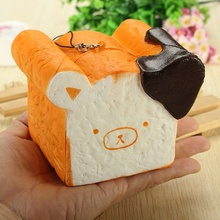 Hot Sale Squishy Toy 8 Seconds Slow Rising Super Soft Cute Fragrance Reality Touch Bear Toast Bread Decor Novelty Toys(China)