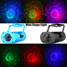 LXG133 9W AC 100 - 240V Sound Activated RGB LED Water Ripples Light Home Party Mini Stage Laser Lamp with Remote Control
