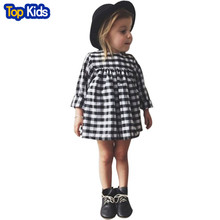 Sun Moon Kids baby girl dress casual plaid christmas dress new autumn winter infant girls clothes vestidos children tutu pBB124(China)