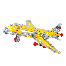 Free shipping 3D DIY Metal Assembling Airplane Model Toys Alloy Model Airliner passenger aircraft Plane Toy Gift For Boy
