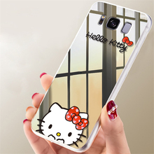 Fashion Cute Carton Hello Kitty Mickey Minnie Mouse Mirror Plating Phone Case For Huawei P9 Clear Phone Back Cover Capa