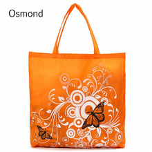 Osmond Eco Storage Handbags Flower Butterfly Oxford Cloth Foldable Shopping Bags Folding Reusable Organizers Tote Bag 6 Colors