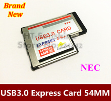 USB 3.0 PCI Express Card Adapter 5Gbps Dual 2 Ports HUB PCI 54mm Slot ExpressCard PCMCIA Converter For Laptop Notebook(China)