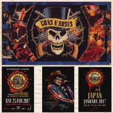 The Guns N U0027roses Nu0027 Roses Gun Kraft Paper Poster Retro Rockers Decorative  Painting