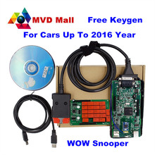 2017 Newest V5.008 R2 WoW SNOOPER With Bluetooth+Keygen Car Truck Diagnostic Tool New WOW VCI Better Than TCS CDP PRO Free Ship