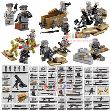 World War 2 WW2 German Assault Special Force Military Building Block Toy Small Army Solider Figures with Weapons MOC toy for kid(China)