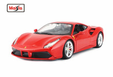 Maisto Bburago 1:24 488 GTB Diecast Model Car Toy New In Box Free Shipping