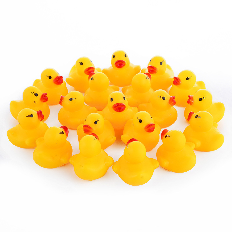 10 Pcs/lot Kawaii Baby Floating Squeaky Rubber Ducks Kids Bath Toys ...