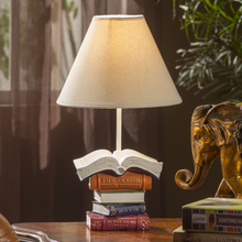 Home Furnishing Table Lamp European Classical Bedroom Table Lamp Study  Creative Retro Book DESK Lamp Ya73117