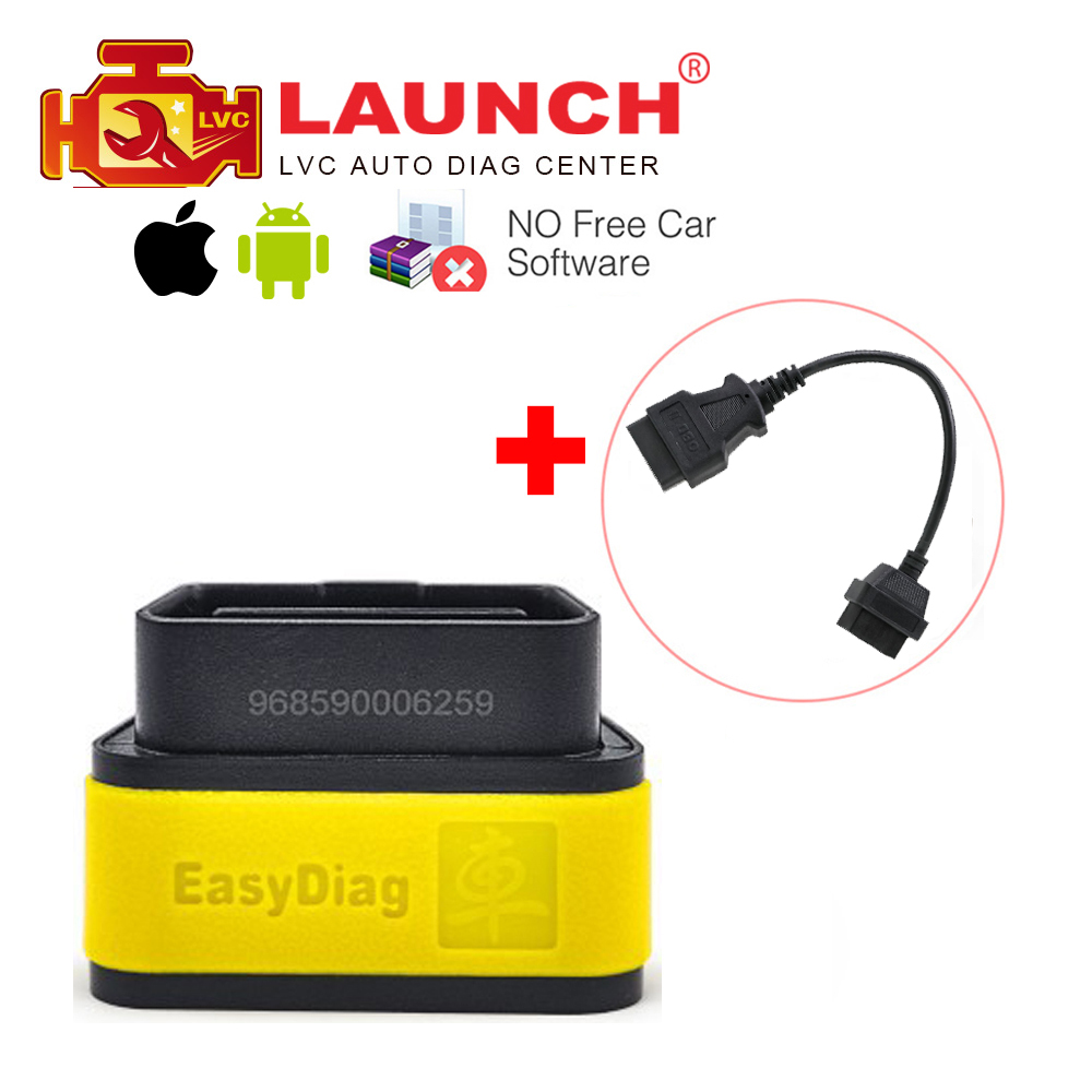 Launch X431 Original EasyDiag 2.0 auto diagnostic tool for IOS&Android system OBDII OBD2 Code Reader + OBD 16pin extension cable(China (Mainland))