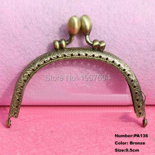 Free Shipping PA136 10pcs Blank Purse Frame Hanger 9.5cm Bronze Metal Clasps Purses Accessories Handles Handbags Diy Bag Parts
