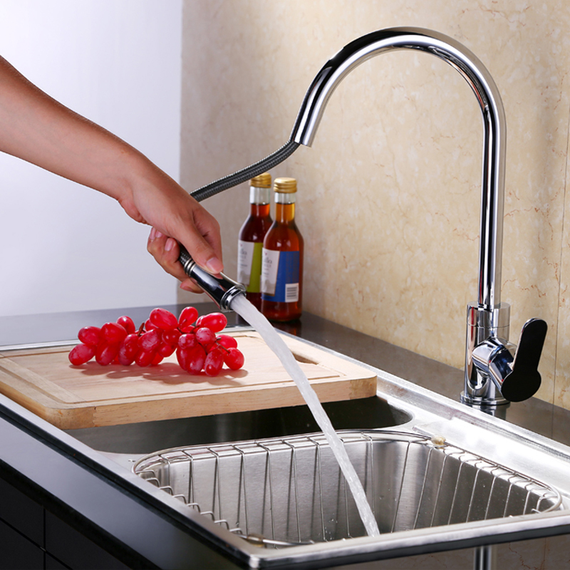 Faucet Kitchen,Taps For Kitchen Sink,Kitchen Mixer,Pull Out Kitchen Faucet HG-10050<br><br>Aliexpress