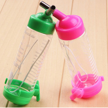 1PCS 80ML Auto Drinking Head Pipe Fountains Water Feeder Plastic Hamster Water Bottle Holder Dispenser Hanging Pet Cat Dog Bowl(China)