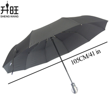 Colorful Folding Automatic Umbrella Rain Women Auto Big Windproof Umbrellas Rain For Men Black Coating 10 Ribs