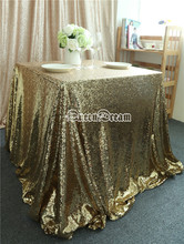 Handmade 96''x96'' Sparkly Black Gold Tablecloth Drape Tablecloth Shimmer Fabric for Banquet Table