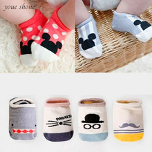 Hot!!! 2017 Super Cute Baby Socks Summer Autumn Cotton Cute Non-slip Boys Girls Newborn Infant Bebe Cartoon Soft Floor Wear(China)