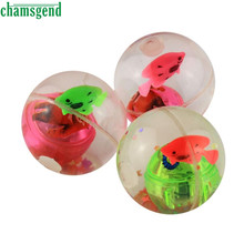CHAMSGEND lash Ball Kids Bouncy Ball With Led Flashing Light birthday Gift Drop Shipping High Quality WDec2