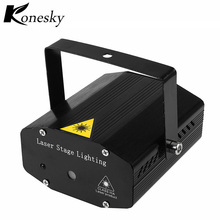 Konesky Mini Laser DJ Disco Light Projector Stage Light Moving Head Dance Party Disco Show Lights Music Christmas Decorations(China)