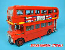 21045 Genuine Lepin Technic Series 10258 London Bus model Building Blocks Bricks diy Toys compatiable with lego kid gift set(China)