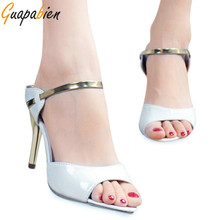 Guapabien Spring Sexy Decoration Shallow Fish Mouth Set Foot Comfort Thin High Heel Ladies Sandals Women Pumps Elegant Shoes