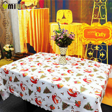 New Year Home Kitchen Dining Table Decorations Christmas Tablecloth Rectangular Party Table Covers Christmas Ornaments(China)