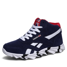Mens High Top Sneakers Black Blue Red Boys Basketball Shoes for sale  M03219