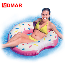 DMAR 107cm 42inch Inflatable Donut Swimming Ring Circle Giant Pool Float Toys Inflatable Mattress for Kids Adults Beach Sea(China)