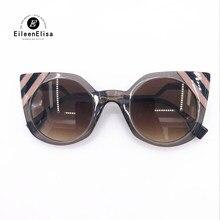 Mode Cat Eye lunettes de Soleil 2018 Haute Qualité Marque Conception Vintage  De Luxe Femmes lunettes de Soleil avec Emballage D . fc754ecf4344