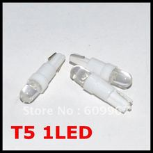 Freeshipping T5 led Car Led light T10 LED t5 Wedge BULB W5W LAMP Dashboard Gauge Instrument Car Auto Side Wedge Light Lamp Bulb