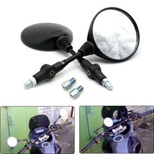Universal 8 10mm Round Bicycle Motorcycle Mirror Moped Scooters Racer Rear Back Side Mirror for SUZUKI KTM Yamaha Honda Kawasaki(China)