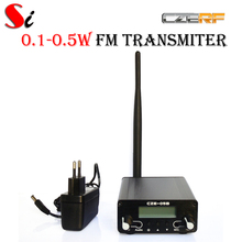 CZE-05B 0.1W/ 0.5W FM transmitter stereo pll radio broadcast Rubber Ant PS Kit(Hong Kong)