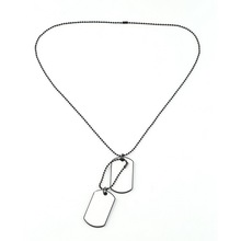 GENBOLI unique Designer Mens Military Army Style 2 Dog Tags Chain Mens Pendant Necklace Jewelry Accessories  Wholesale