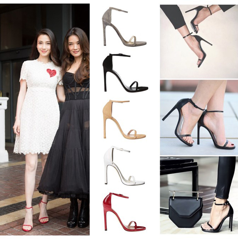Drop shipping! Summer women T-stage Classic Dancing High Heel Gladiator Sandals Women Sexy Stiletto/Party wedding shoes 5 color<br><br>Aliexpress