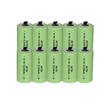 10PCS UNITEK Sub C sc 1.2V rechargeable battery 2200mah ni-mh nimh cell with welding tab pins for power tools,vacuum cleaner(China)