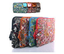 Colorful Flower Design 10'' 12'' 13'' 14'' 15'' Laptop Computer Case Cover Zipper Notebook PC Sleeve Bag Canvas Pouch For HP IBM