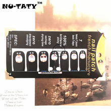 Nu-TATY Black & White penguin Nail Arts Nail Sticker Waterproof Nail Decal Sticker Gel Polish French Manicure Patch Full Tape(China)