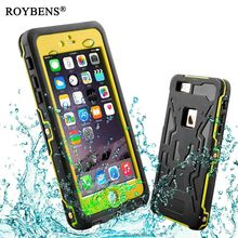 Roybens For iPhone 6 Waterproof Case Luxury 360 Degree Full Body Life Water Proof Soft Silicone Cover For iPhone 6S Anti-Water(China)