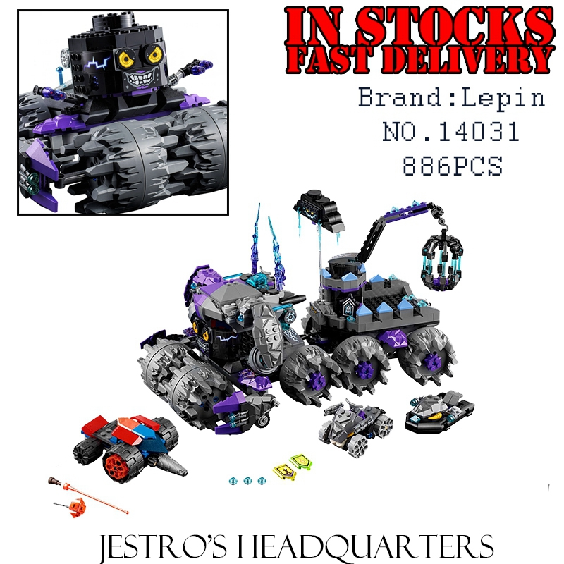 Lepin 14031 Nexus Knights Building Blocks Set Jestro\s Monstrous Monster Vehicle Kids Bricks Toys for children Compatible 70352<br>