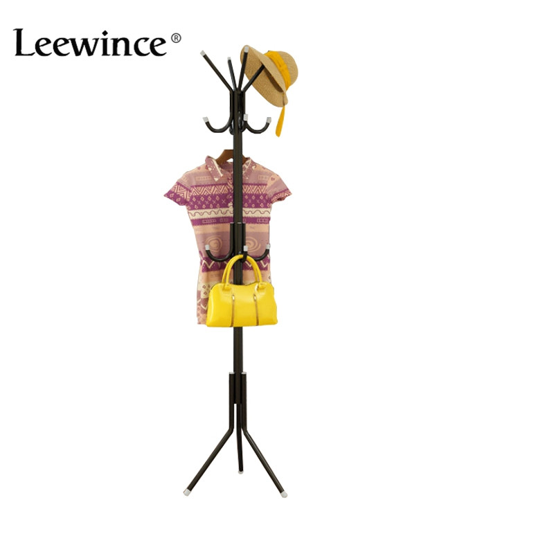Leewince Metal Coatrack hanger bedroom simple hanging clothes rack creative iron storage rack European style<br>