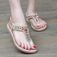 Roman style woman gladiator sandals rhinestone woman flip flops clip toe sandalias mujer cut out woman shoes quality sandals2016