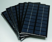 Wholesale 100PCS/Lot 3W 9V Small Solar Cell Module Polycrystalline Solar Panel For 6V Battery Charger Education Kits 125*195*3MM