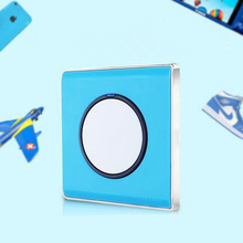 1 gang 2 way light switch and Blue lamp pull switch,EU Standard wall switch AC110-220V push button switch with LED ndicator