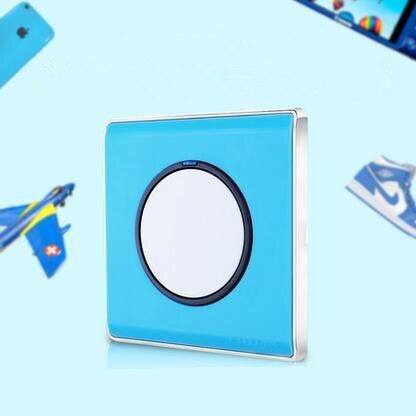 1 gang 2 way light switch and Blue lamp pull switch,EU Standard wall switch AC110-220V push button switch with LED ndicator<br><br>Aliexpress