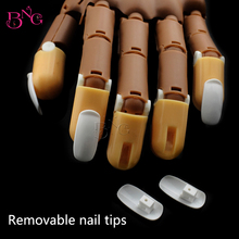 100Pcs/pack Acrylic Nail Tips PP Material Original Accessory for Practice Hand Number False Nails Trainer Art Tools