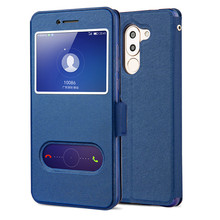 Huawei GR5 2017 Case Huawei Honor 6X High Quality Window PU Leather Case Cover For Huawei GR5 2017 With Phone Rope #0607